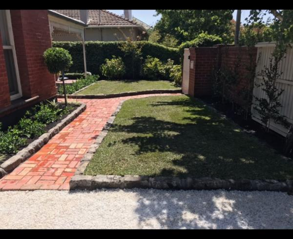 Brighton front yard landscaping
